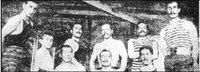 1910 Beşiktaşlı sporcular Oturanlardan sağ Baştaki Mehmet FETGERİ Ayaktakilerden sağ baştaki Fuat BALKAN sağda dördüncü Ahmet FETGERİ