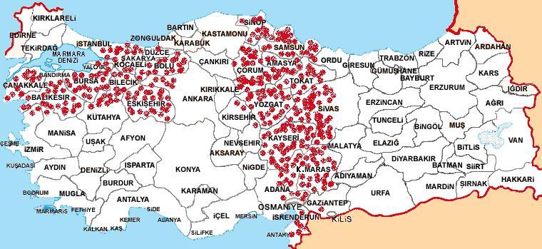 Kafkasyalıların iskan bölgeleri